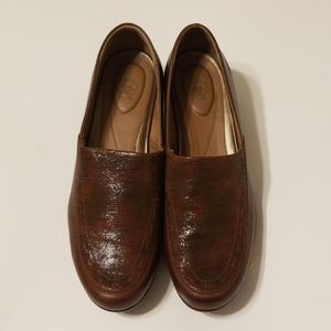 Ariat brown nubuck leather loafers
